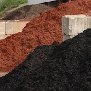 landscaping colored mulch and stone image